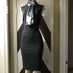 Gorgeous CENTREVILLE PARIS GRAY & Black dress